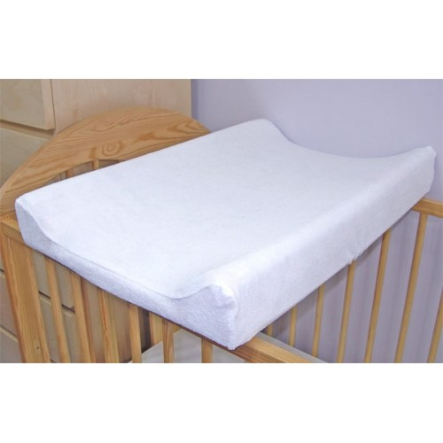 Baby Nellys Froté poťah na prebaľovaciu podložku, 60x80cm - biely