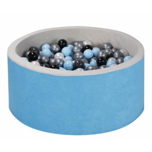 NELLYS Bazen pre děti 90x30cm + 200 balónků - modrý