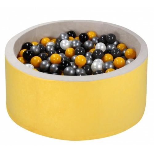 NELLYS Bazen pre děti 90x40cm + 200 balónků - žltý