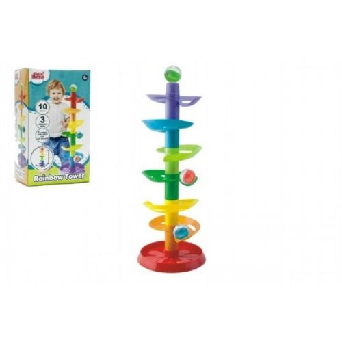 Guličkové dráha - veža 50cm 10ks 3 guličky plast v krabici 9m +