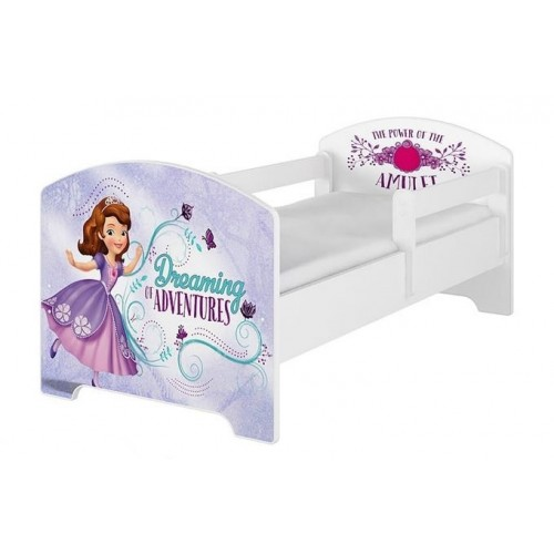 BabyBoo Detská postel Disney - Sofie - biela s materacom