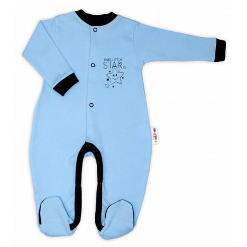 Baby Nellys Bavlnený overal Baby Little Star - modrý, veľ. 74