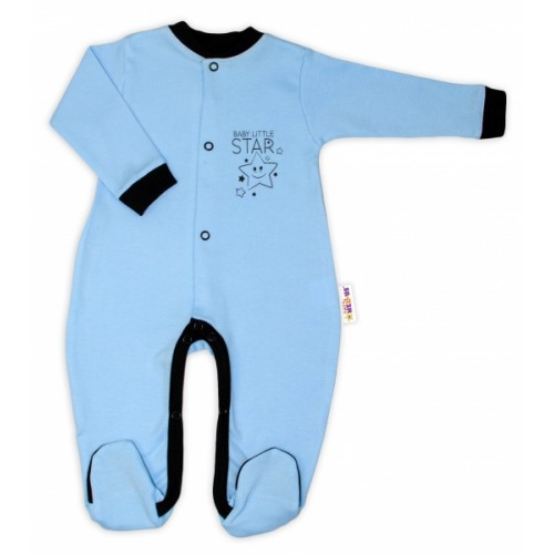 Baby Nellys Bavlnený overal Baby Little Star - modrý, veľ. 80
