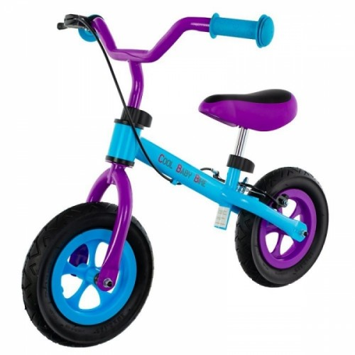 "Euro Baby Detské odrážadlo, bicykel Cool Air Baby - modro/fialové, kola 10"""