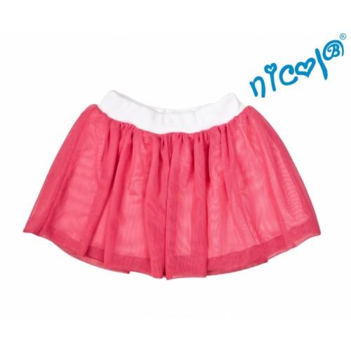 Dětská sukne Nicol, Mořská víla - červená, veľ. 128
