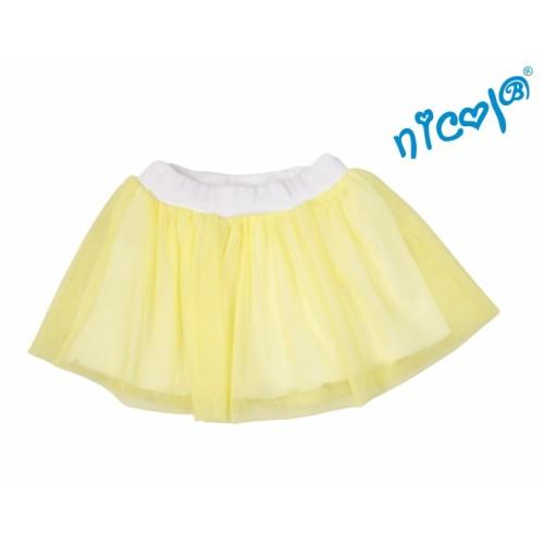Dětská sukne Nicol, Mořská víla - žltá, veľ. 110