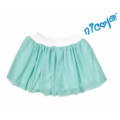 Detská sukne Nicol, Mořská víla - zelená, veľ. 116