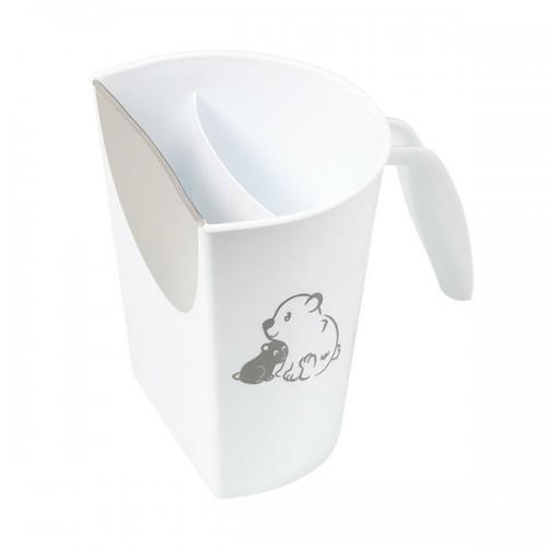 Hrnček na kúpanie, umývanie hlavičky BabyOno s obrázkom - biely