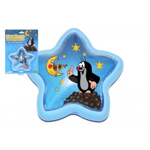 Lampička Krtko na zavesenie plast hviezda 15cm na karte