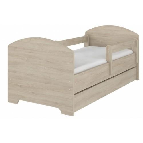 NELLYS Detská posteľ SABI vo farbe svetlý dub so zásuvkou + matrac zadarmo, D19