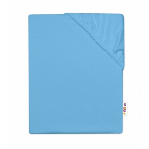 Baby Nellys Detská jersey plachta do postieľky - modrá