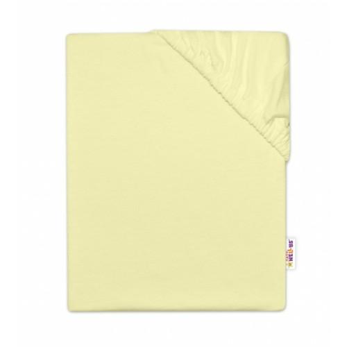 Baby Nellys Detská jersey plachta do postieľky -žltá, 140 x 70 cm