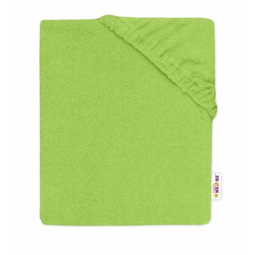 Baby Nellys Detská froté plachta do postieľky -zelené