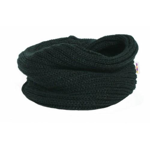 Pletený nákrčník / komínok Baby Nellys ® - čierny