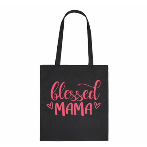 Bavlnená taška pre mamy Blessed Mama - čierna