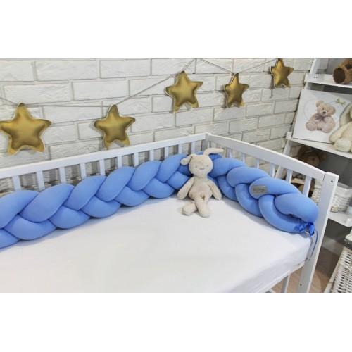 Mantinel Baby Nellys pletený vrkoč - sv. modrá