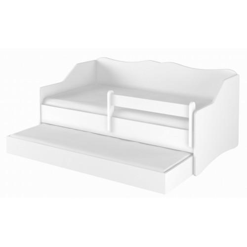 Babyboo Detská posteľ LULU 160 x 80 cm - biela