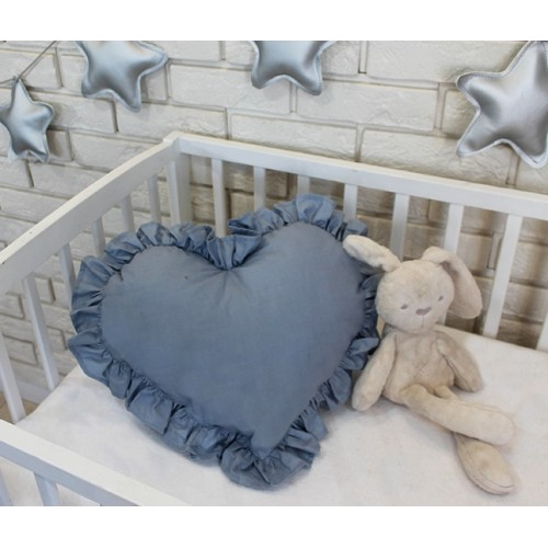 Baby Nellys Dekoračné obojstranný vankúšik - Srdce, 45 x 40 cm - světlo šedé