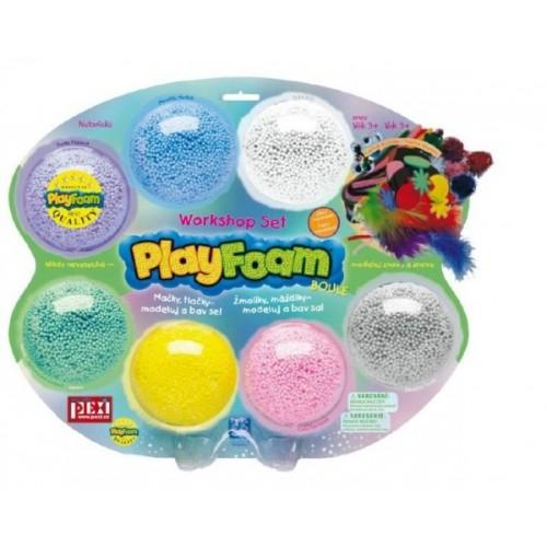 PlayFoam Plastelína / Plastelína guličková s doplnkami 7 farieb na karte 34x28x4cm