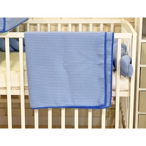 BABY NELLYS Deka 90 x 90 cm - vaflová, modrá