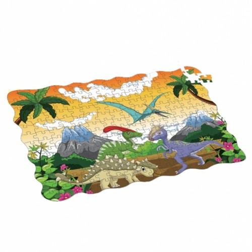 Puzzle dinosaury 208 ks, 90x64 cm