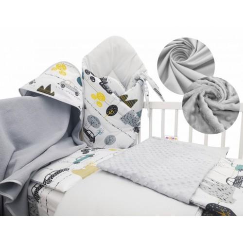 Baby Nellys 6-dielna výhodná súprava pre bábätko s darčekom, 120 x 90cm - Auta v aleji