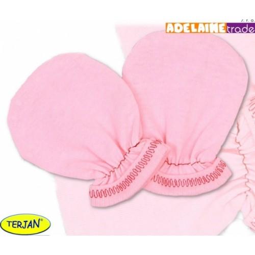 Rukavičky bavlna Terjan - ružové, veľ. 2
