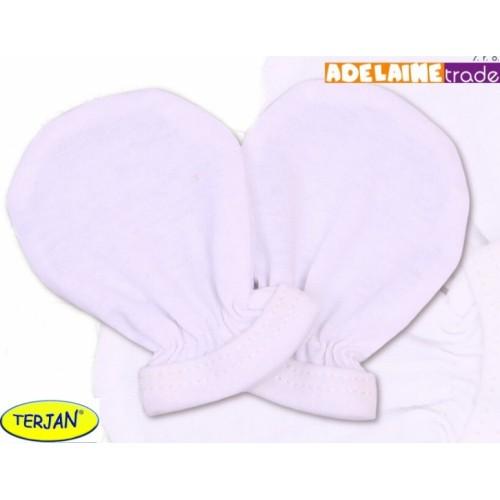 Rukavičky bavlna Terjan - biele, veľ. 1