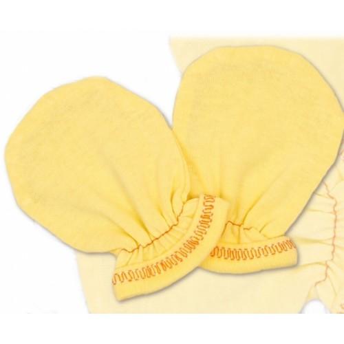 Rukavičky bavlna Terjan - krém, veľ. 1