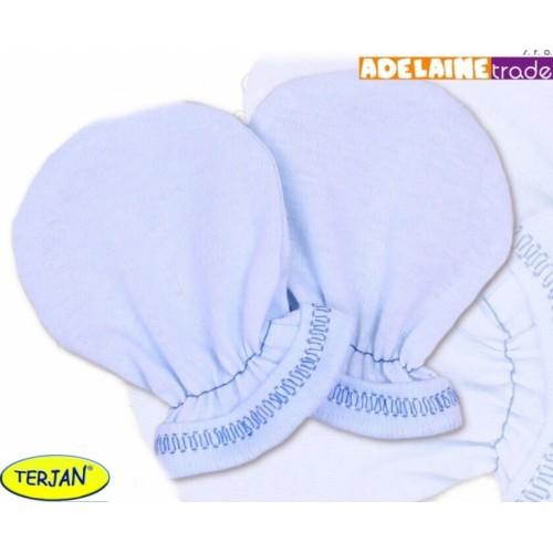 Rukavičky bavlna Terjan - modré, veľ. 1