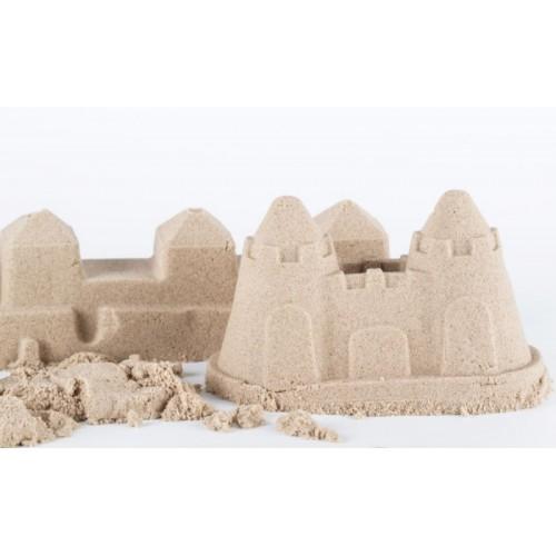 Adam Toys, Kinetický piesok - prírodný - 3kg + formičky, pieskovisko zadarmo