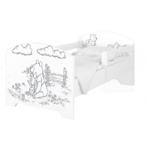 Babyboo Detská posteľ 140 x 70 cm Disney - Medvídek PÚ