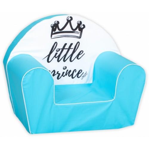Delsit Detské kresielko, pohovka LUX Little Prince, modré