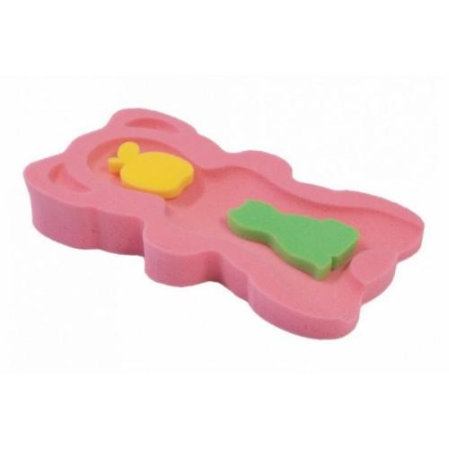 BADO Matračka - huba na kúpanie bábätiek MINI - růžová/žltá