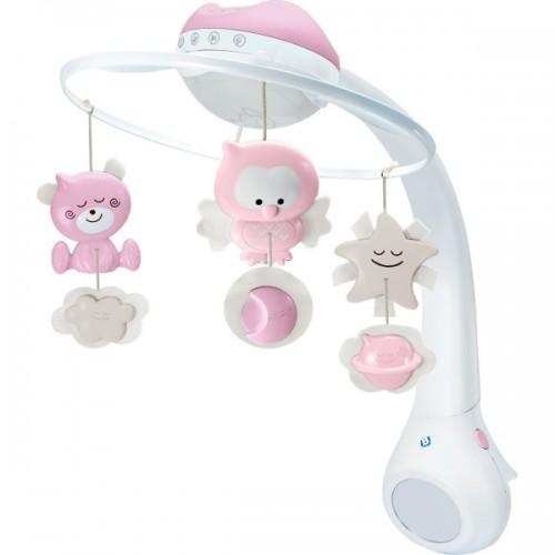 Infantino Hudobný kolotoč s projekciou 3v1 - růžový