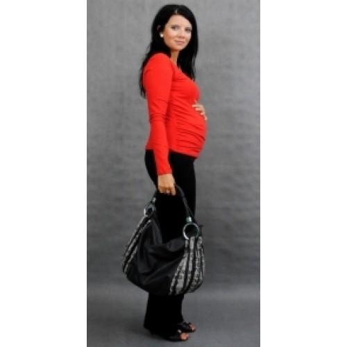 Be MaaMaa Tehotenské tričko ELLIS - červená