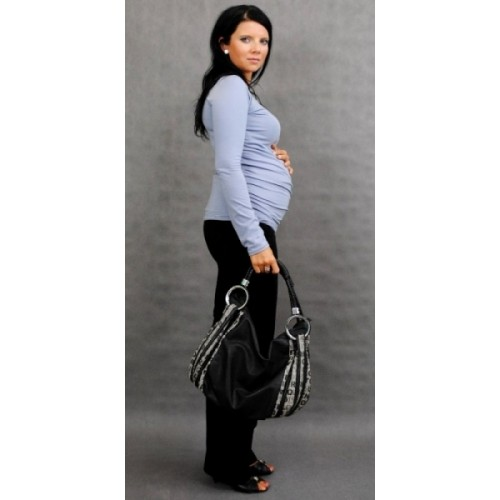 Be MaaMaa Tehotenské tričko ELLIS - šedá