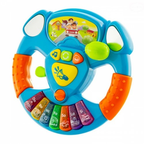 Euro Baby Interaktívna hračka s melódiou Volant - modrý