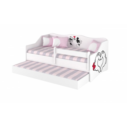 Babyboo Detská posteľ LULU 160 x 80 cm - biela Love