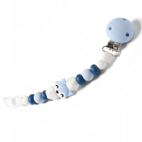 BabyOno Retiazka na cumlík Natural Nursing -Liška modrá