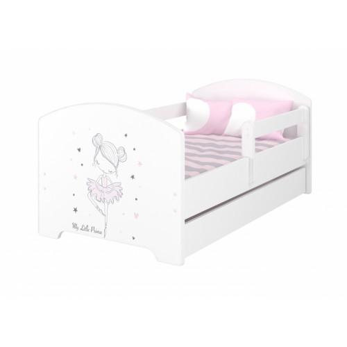 Babyboo Detská posteľ 140 x 70 cm - Baletka