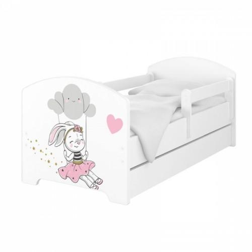 Babyboo Detská posteľ 140 x 70 cm - Rabbit