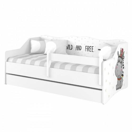 Babyboo Detská posteľ LULU 160 x 80 - Hippo