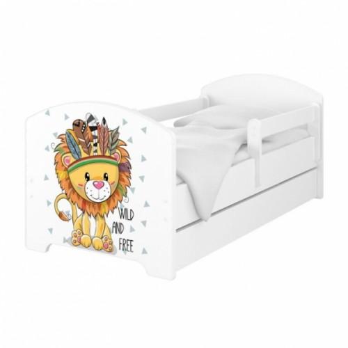 Babyboo Detská posteľ 140 x 70 cm - Lev