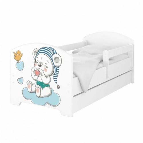 Babyboo Detská posteľ 140 x 70 cm - Macko s čiapkou
