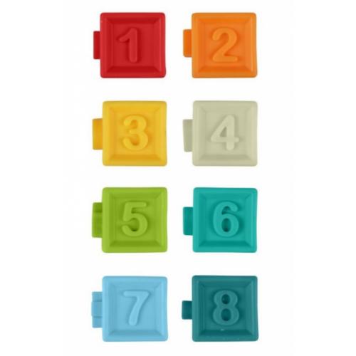 Akuku Edukačné farebné kocky 8ks v krabičke