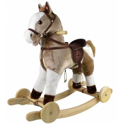 Cuddle & Love Hojdacie Koník-Mustang s melódiou - béžový