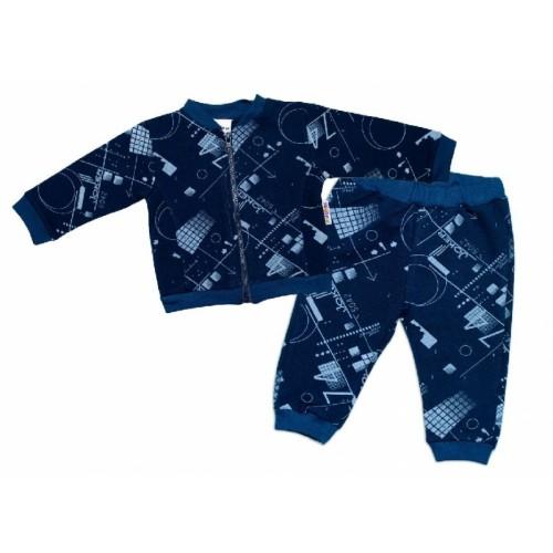 BABY NELLYS Tepláková súprava COOL, modrá, veľ. 68