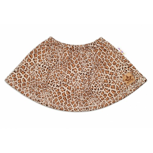 BABY NELLYS Dětská sukne Gepard - hnedá