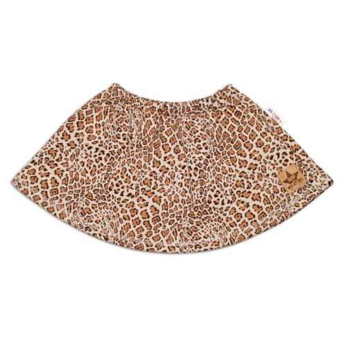 BABY NELLYS Dětská sukne Gepard - hnedá, veľ. 86